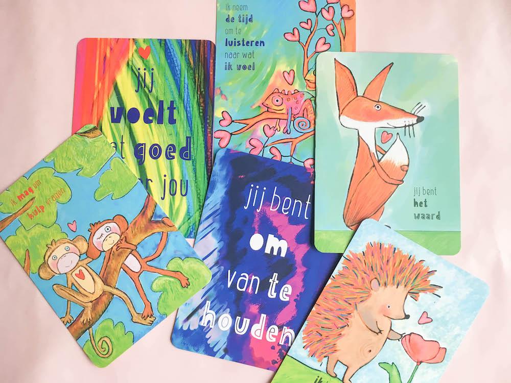 positieve gedachten kaarten voor kinderen